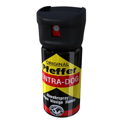 Spray antiaggressione Mod. Contra Dog a getto balistico a base di O.C. 10%