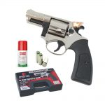 311.000 – COMPETITIVE REVOLVER 380 CHROME top firing , rubber grips